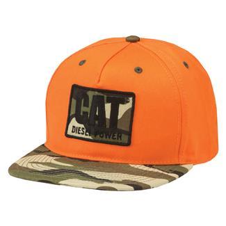 CAT Diesel Power Flat Bill Hat Hunters Orange