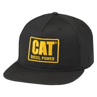 CAT Diesel Power Flat Bill Hat Black