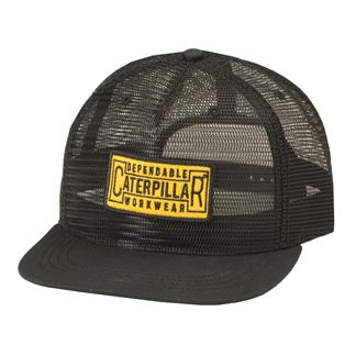 CAT Full Mesh Flat Bill Cap Black