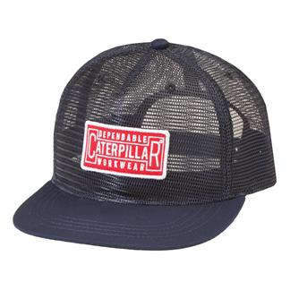 CAT Full Mesh Flat Bill Cap Navy