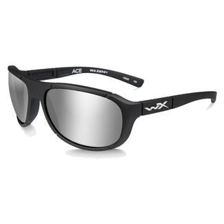 Wiley X Ace Matte Black (frame) - Polarized Silver Flash (lens)