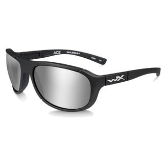 Wiley X Ace Matte Black (frame) - Polarized Silver Flash (lens)