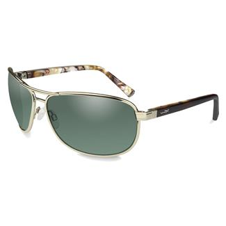 Wiley X Klein Gold (frame) - Polarized Green (lens)