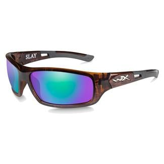 Wiley X Slay Gloss Demi (frame) - Polarized Emerald Green Mirror (lens)