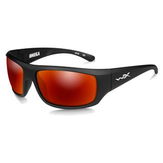 Wiley X Omega Matte Black (frame) - Polarized Crimson Mirror (lens)
