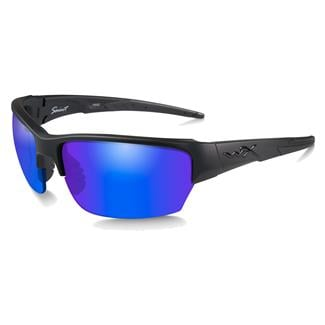Wiley X Saint Matte Black (frame) - Polarized Blue Mirror (lens)