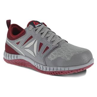 Reebok ZPrint Work Athletic Oxford ST ESD Gray / Burgundy
