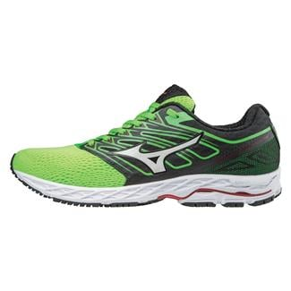 Mizuno Wave Shadow Green Slime / White