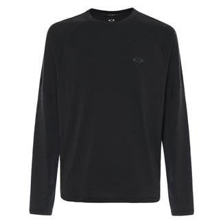 Oakley Long Sleeve Tech Knit T-Shirt Blackout Dark Heather