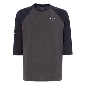 Oakley 50-Oakley 3/4 Raglan Shirt Blackout Light Heather