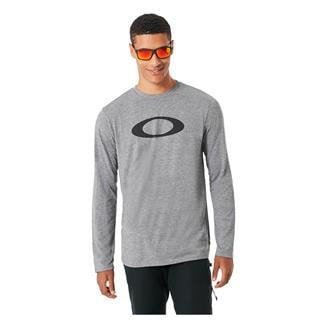 Oakley SO-Mesh Ellipse Long Sleeve T-Shirt Athletic Heather Gray