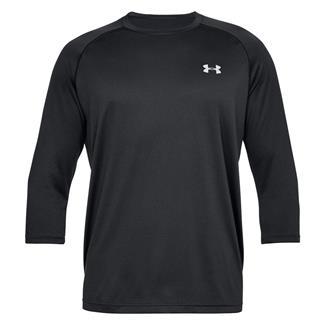 Under Armour Tech 3/4 Sleeve T-Shirt Black / Steel