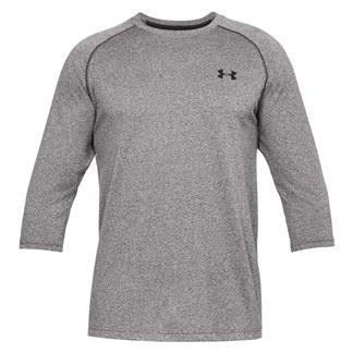 Under Armour Tech 3/4 Sleeve T-Shirt Charcoal Medium Heather / Black