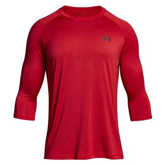 Under Armour Tech 3/4 Sleeve T-Shirt Pierce / Rhino Gray