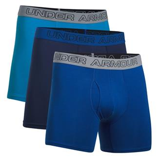 """Under Armour Charged Cotton Stretch 6"""" Boxerjock (3 Pack) Brilliant Blue / Royal / Midnight Navy"""