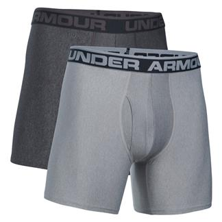 "Under Armour Original Series 6"" Boxerjock Boxers (2 Pack) Carbon Heather / True Gray Heather"