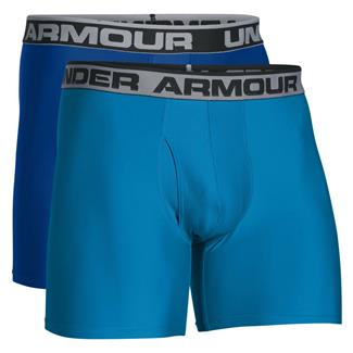 "Under Armour Original Series 6"" Boxerjock Boxers (2 Pack) Royal / Brilliant Blue"