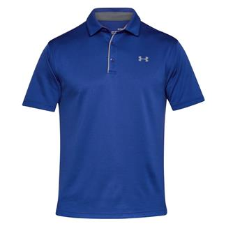 Under Armour Tech Polo Formation Blue / Rhino Gray