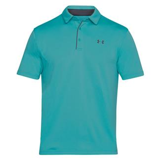 Under Armour Tech Polo Teal Punch / Rhino Gray