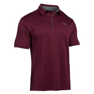 Under Armour Tech Polo Maroon / Graphite / Graphite