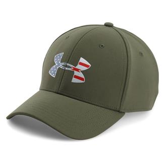Under Armour Freedom Low Crown Hat Marine OD Green / Silver / Red