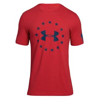Under Armour Freedom Logo 2.0 T-Shirt Red / Blackout Navy