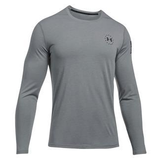 Under Armour Freedom Siro Long Sleeve T-Shirt True Gray Heather / Black