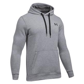 Under Armour Rival Fitted Hoodie True Gray Heather / Black