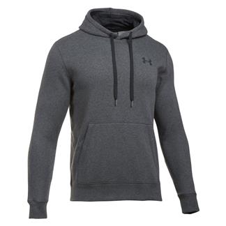 Under Armour Rival Fitted Hoodie Carbon Heather / Black