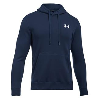Under Armour Rival Fitted Hoodie Midnight Navy / White