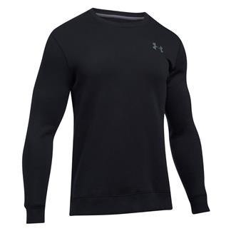 Under Armour Rival Solid Fitted Crew Long Sleeve T-Shirt Black / Graphite