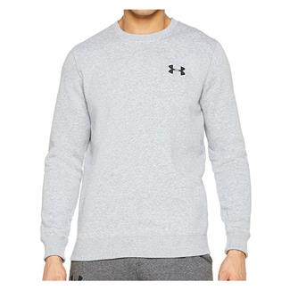 Under Armour Rival Solid Fitted Crew Long Sleeve T-Shirt Steel Light Heather / Black