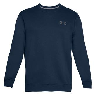 Under Armour Rival Solid Fitted Crew Long Sleeve T-Shirt Academy / Graphite
