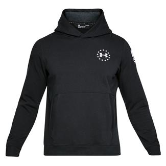 Under Armour Freedom Threadborne Fleece Hoodie Black / White