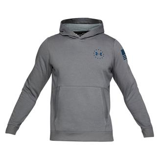 Under Armour Freedom Threadborne Fleece Hoodie Graphite / Blackout Navy