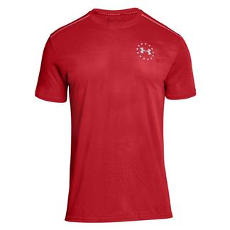 Under Armour Freedom Streaker T-Shirt Red / Steel