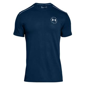 Under Armour Freedom Streaker T-Shirt Blackout Navy / White