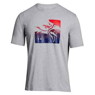 Under Armour Freedom Eagle Short Sleeve T-Shirt Steel Light Heather / Red