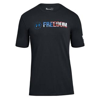 Under Armour Freedom Chest T-Shirt Black / White