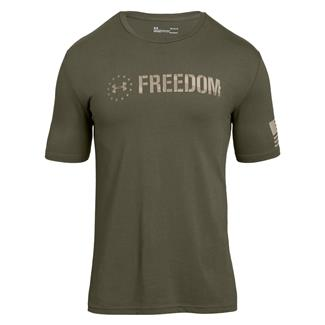 Under Armour Freedom Chest T-Shirt Marine OD Green / Desert Sand