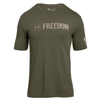 Under Armour Freedom Chest T-Shirt Marine OD Green / Desert Sand
