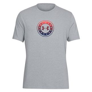 Under Armour Freedom Circle T-Shirt Steel Light Heather / Red