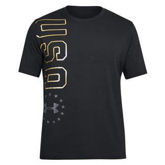 Under Armour Freedom USA Vertical T-Shirt Black / Stealth Gray