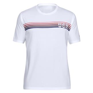 Under Armour Freedom Chest Lines T-Shirt White / Red