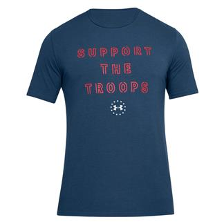 Under Armour Support the Troops T-Shirt Blackout Navy / Red