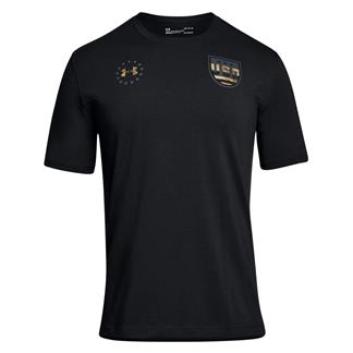 Under Armour Freedom Team USA T-Shirt Black / Stealth Gray