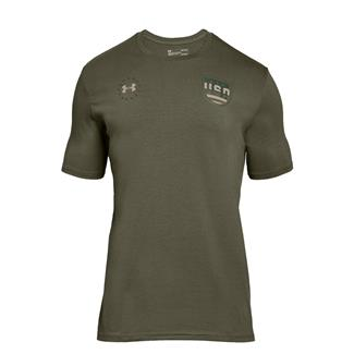 Under Armour Freedom Team USA T-Shirt Marine OD Green / Desert Sand