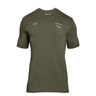 Under Armour Freedom Team USA T-Shirt Marine OD Green / Desert Sand