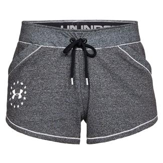 Under Armour Freedom Threadborne Shorts Black Medium Heather / White