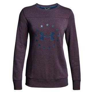 Under Armour Freedom Threadborne Crew Long Sleeve T-Shirt Blackout Navy / Rustic Red / Blackout Navy